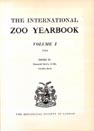 THE INTERNATIONAL ZOO YEARBOOK cover